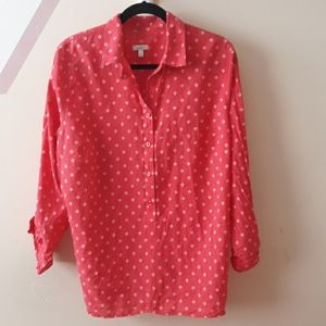Talbots Patterned Blouse